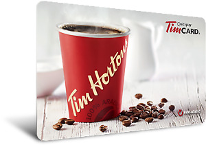 FREE $20 TIMS CARD