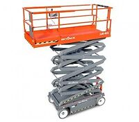 SJ4632 ELECTRIC INDOOR SCISSOR LIFT FOR RENT $195
