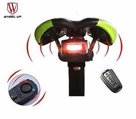 3 in 1 very loud bike alarm led bike light and bell! With remote