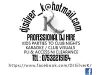 Mobile/Club Dj and Karaoke. 60's music to present day. Any genre from Chart to Underground Techno