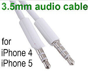 New 3FT/1m 3.5mm Speaker Audio AUX Cable for iPhone iPod