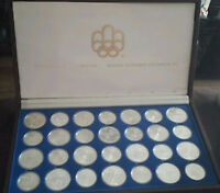 1976 Olympics 28 silver coin set
