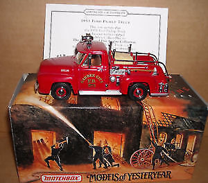 Matchbox Die Cast Fire Engine - 1953 Ford Pickup Truck