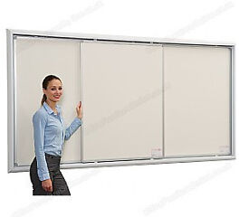 Ultralon Whiteboard with 2 sliding boards