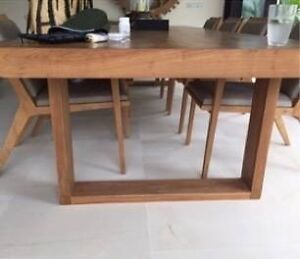 Solid Teak hand crafted dining table Cronulla Sutherland Area Preview