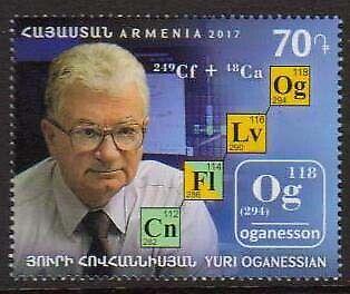 Armenia Cat# 838 Yuri Oganessian Chemist Scott #1126 Date of Issue: December 28