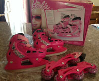 Barbie adjustable skates/roller blades