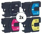2x Brother LC-1100 XL Multipack (huismerk inktcartridges)