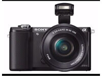 Sony ILCE5000L Compact System Camera with SEL-1650 Zoom Lens (20.1 MP, 180 Degrees Tiltable LCD)