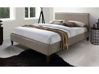 Leather Double Bed Frame - Brand New