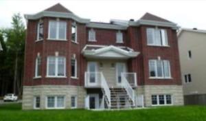 Appartement 6-1/2 style condo sur 2 étages ( POUR JUILLET)