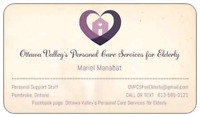 Ottawa Valley's Personal Care Services for Elderly