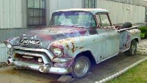 WANTED 1955-57chevy truckOR GMC