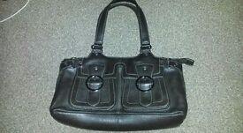 New brown leather handbag