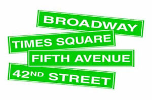 4 New York Street Sign Cutout Party Decorations