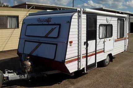 "17"" Roadstar poptop caravan with solar for free camping"