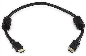 1.5ft HDMI High Speed Cable with Ethernet & Ferrite Cores - Blac
