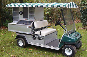 Club Car Cafe Express food service cart Golf Car