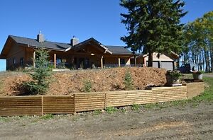 New log/stone rancher on 20 acres