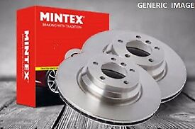 NEW MINTEX REAR BRAKE DISCS (2x DISCS) - MDC2055 fit hyundia and kia cars