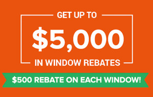 WINDOW OF OPPORTUNITY! GET $5000 REBATE TO REPLACE WINDOWS