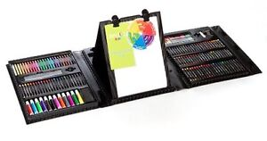 Art 101 Kids 179-Piece Double Sided Trifold Easel Art Set New