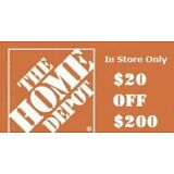 Home Depot $20 off $200 QUICK FAST SERVICE Sent via eBayMsg In Store Use only***