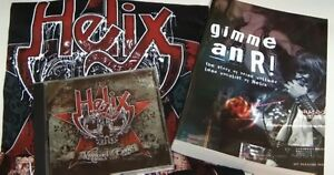 Helix Rock Band Signed 1st Edition Book Collectible T Shirt + CD