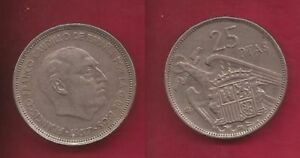 Spain Coin _ 1957_ Spanish Dictator : Franco