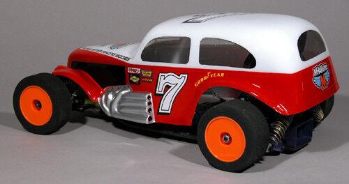 Clear, 1/10 RC car body Devil's Bowl Modified 30's  ...#253