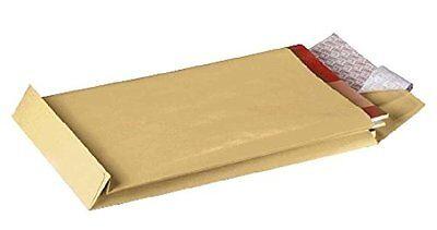 Tasche Falten (100 Faltentaschen Versandtaschen braun B4 250x353x40 HKL  (GF2203))