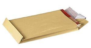100 Faltentaschen Versandtaschen braun B4 250x353x40 (GF2203)