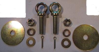 Seat Belt Eye Bolt Kit Sister Hook Snap Hook Mounting Kit,  Seatbelt Mount (Seat Belt Bolt Kit)