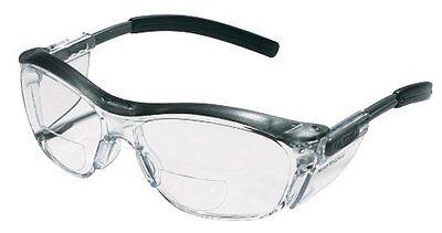 3m Reader Safety Glasses 2.0 Diopter Black Frame Clear Lens