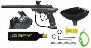 NEW D3fy Sports CP-02-B Conquest Semi Auto Paintball Marker Combo Kit, Black