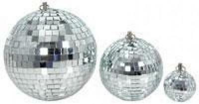 QTX 151.581 Glass 10cm Diameter Club Disco Mirror Ball Glittering Effect Display