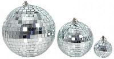 QTX 151.585 Glass 30cm Diameter Club Disco Mirror Ball Glittering Effect Display