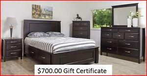 $700.00 Gift Certificate from Bonanza Furniture Inc. Regina Regina Area image 1