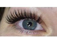 Eyelash extensions, lash lift, eyebrow shape & tint