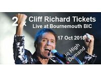 2 x Cliff Richard Tickets for sale
