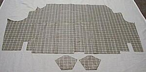 1965 1966 ford mustang fastback vinyl plaid trunk mat 3 pieces for 1966 ford mustang floor mats