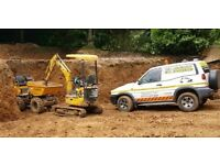 JCB Man digger and driver hire excavator with operator hire rent