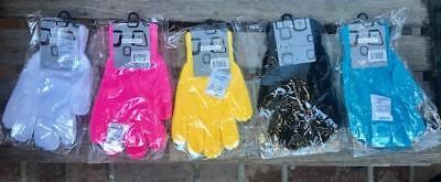 White Knit Glove (Lot 5 pairs Winter Knit Glove,Black,Pink,Yellow,Blue,Black white,Women's gloves)