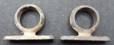 Vintage PAIR Small Galvanized Cast Iron 1 1/8