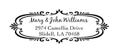 Custom Designer Trodat 4913 Return Address His Her Name Self Ink Stamp- Bridal