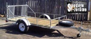 remorque vtt / remorque trailer quad / attache pour moto