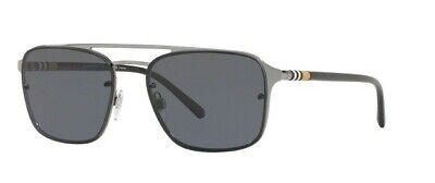 NWT BURBERRY Sunglasses BE3095 100381 GUNMETAL/POLAR GREY (Burberry Gunmetal Sunglasses)