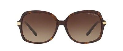 NWT Michael Kors Sunglasses MK 2024 310613 Dark Tortoise / Brown Gradient 57 mm