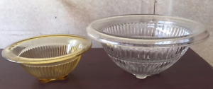 Federal Glass Rolled Rim Mixing Bowls