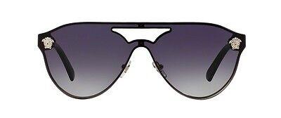 NWT Versace Sunglasses VE 2161 1000/8G Silver / Gray Gradient 42 mm 10008G NIB